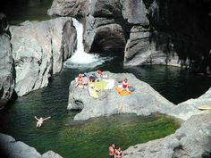 The best swimming holes are at Sooke Potholes Provincial Park, British Columbia