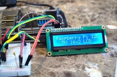 An I2C LCD connected to the Raspberry Pi https://www.arduino-board.com/rpi/i2c