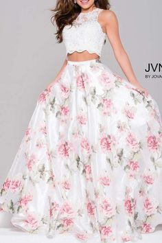 Jovani Beaded Lace Gown
