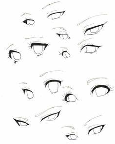 Body Drawing Tutorial, Eye Drawing Tutorials, Manga Tutorial, Eye Tutorial, Art Tutorials, Drawing Body Poses, Drawing Eyes, Anime Face Drawing, Anime Drawing Styles