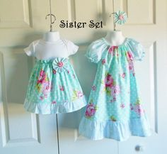 Matching Big Sister Little Sister Outfits by HandmadebyJennBaker
