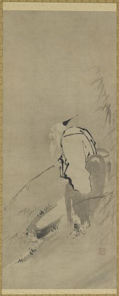 Chiang Tzu-ya fishing | Kaiho Yusho (1553-1615) | Ink on paper | Edo period | Japan | early 17th century | Gift of Charles Lang Freer | Freer Gallery of Art and Arthur M. Sackler | F1897.96
