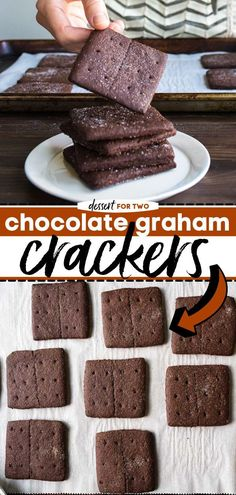 Give this from-scratch chocolate graham cracker recipe a try! This homemade sweet treat is thicker with a richer taste than the store-bought one. Enjoy it as a snack idea, or use it to make other… Basic Butter Cookies Recipe, Best Chocolate Chip Cookies Recipe, Easy Chocolate Desserts, Easy Cookie Recipes, Snack Recipes, Dessert Recipes, Chocolate Recipes, Easy Recipes, Graham Cracker Recipes
