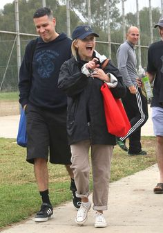 Pin for Later: Reese Witherspoon's Smile Will Put a Grin on Your Face, Too  She looked excited at son Deacon Phillippe's soccer game with Jim Toth in October 2012.