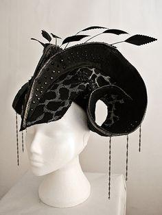 Feather, crystal headpiece