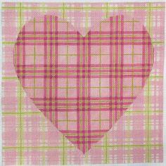 KSH Double Madras Heart Needlepoint