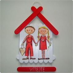 ♥ Popsicle Stick Crafts, Popsicle Sticks, Craft Stick Crafts, Paper Crafts, Fun Crafts For Kids, Diy Home Crafts, Diy Gifts For Boyfriend, Diy Bow, Valentine Day Crafts