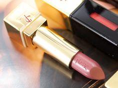 Yves Saint Laurent Rouge Pure Couture Golden Lustre Lipstick in Nº 114 Rose de Saba ($39 CAD)