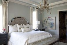Wall color is Silver Strand from Sherwin Williams. Remodelaholic