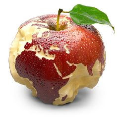 Its juicy pulp deeply carved oceans. Apple peel in the form of exact shape of continents of Europe and Africa is covered with water droplets. Isolated on a white background - stock photo Globe Image, Kindness For Kids, Apple Background, Bad Apple, Caramel Apples, Strawberry, Food And Drink, Turkey, Fruit