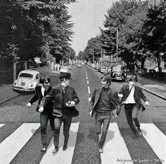 Young Beatles in Abbey Road by alejandroluisi.deviantart.com on @DeviantArt