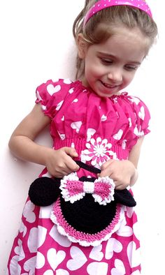 Minnie Mouse Inspired crochet purse by BeautyCrochetPattern, $4.95