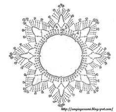 70 ideas crochet flowers chart cross stitch for 2019 Col Crochet, Crochet Tunic Pattern, Free Crochet Doily Patterns, Crochet Headband Pattern, Crochet Circles, Christmas Crochet Patterns, Crochet Snowflakes, Crochet Diagram, Crochet Bunny