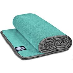 Youphoria Hot Yoga Towel - Non-Slip Yoga Mat Towel - Perfect Microfiber Towel for Yoga and Pilates (Mint Towel/Gray Stitching, x Mat Yoga, Yoga Towel, Yoga Handstand, Yoga Equipment, Sports Equipment, Pilates Reformer, Pilates Yoga, Yoga Session