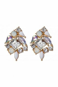 Colette Hayman Crystal Cluster Stud Earrings $12.95