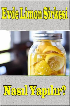 How to make Lemon Vinegar at Home? Fermented Foods, Vinegar, Pickles, Feta, Cucumber, Deserts, Food And Drink, Healthy Recipes, Homemade
