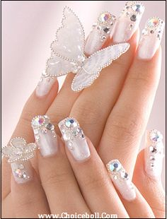 Butterfly Wedding Nails