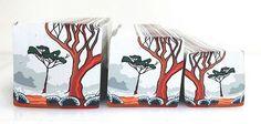 "Tree cane #35 ""Salmon Gums in the Mist 2"" by Wendy Jorre de St Jorre."