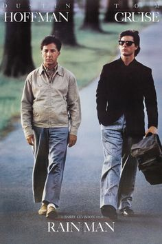 """Rain Man (Academy Award for """"Best Actor"""": Dustin Hoffman, Academy Award for Best Director, Best Writing-Original Screenplay and Best Picture) - Drama, 1988"""