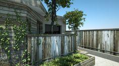 EXTERIEUR Maison Fontaine (Isère - 38)  / Terrasse et Bardage bois // Aménagement paysagé réalisé par CADYPSO (Architecture d'intérieur - Agencement Magasins - ERP - Particuliers)