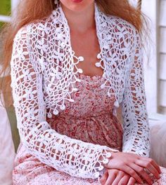 Stylish Easy Crochet: Bolero Shrug - Crochet Shrug Pattern http://easy-crochet.blogspot.com.au/2012/10/bolero-shrug-crochet-shrug-pattern.html