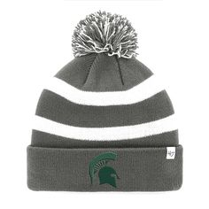 Michigan State Spartans '47 College Football Playoff 2015 Cotton Bowl Bound Breakaway Cuffed Knit Hat with Pom - Charcoal - $20.79