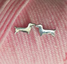 Dachshund stud earrings so you always have a bit of doxie love with you. Available at TheSmootheStore.com