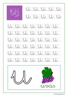 Caligrafía de las vocales en pdf para imprimir | Fichas de Caligrafía Sistema Solar, Kids Writing, Baby Play, Preschool Activities, Kids Learning, Homeschool, Classroom, Google, Sight Word Activities