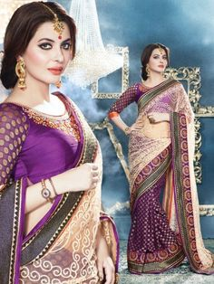 White And Maroon Colored Embroidered Georgette Savera Branded Designer Saree - Buy White Georgette Embroidered Saree For only Rs.3,195 from Godomart Online Shopping Store India. Shop Online for Best Saree Collection Only at Godomart.com