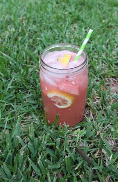 Watermelon Lemonade via With Style and a Little Grace