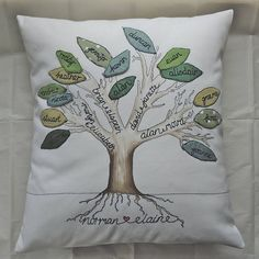 family tree cushion by designer j | notonthehighstreet.com