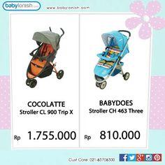 Yuk beli stroller koleksi terbaru di Babylonish. Ada Cocolatte dan Babydoes. Tersedia berbagai pilihan warna.  Hanya di www.babylonish.com
