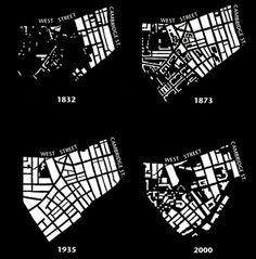 Evolution of Sheffield City, figure-ground diagram