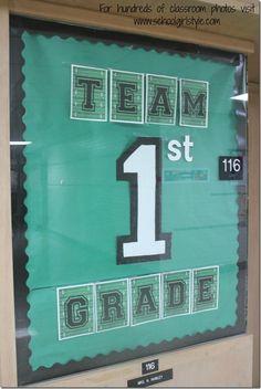 Sports Team Classroom theme decor Schoolgirl Style14 www.schoolgirlstyle.com