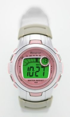 Armitron Youth Stainless Digital Alarm Stop Watch Light Rubber Sports Watch