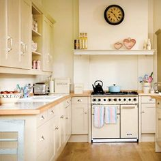 Cream is perfect for country kitchens