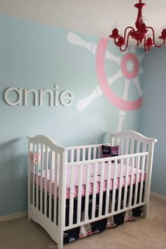 awesome girly nautical nursery!