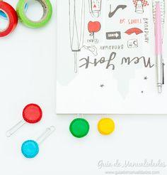 Clips de macarrones para tus libros y cuadernos