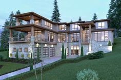 Contemporary Style Homes, Contemporary House Plans, Modern House Plans, Modern House Design, Contemporary Design, Modern House Exteriors, Luxury House Plans, Luxury Homes Dream Houses, Modern Mansion