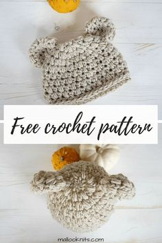Crochet Pattern For Beginners Easy crochet newborn hat pattern. This crochet hat pattern is very easy to make for your tiny newborn or charity donations. Crochet Patron, Crochet Beanie, Easy Crochet Baby Hat, Crochet Hats For Kids, Crochet Scarf Easy, Crochet Children, Crochet Baby Bonnet, Crochet Scarfs, Crochet Braids