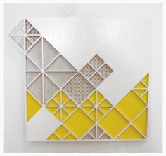 Sandra Fettingis is an artist living and working in Denver, CO. Sculptural pattern based installation art, murals and jewelry. Boarder Designs, Hospital Design, Boarders, Geometric Art, Wall Design, Wood Art, Geometry, Carpet, Wall Decor