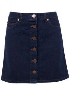 Miss Selfridge denim A-line skirt, £28 - The High Street 100