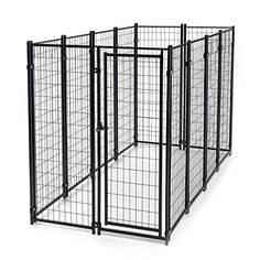 ALEKO 4X8X6 Feet Dog Kennel Heavy Duty Pet Playpen Dog Exercise Pen Cat Fence Run for Chicken Coop Hens House *** For more information, visit
