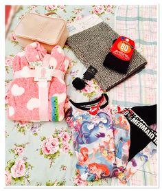 #coldseason #stockup from @primark #wolverhampton - #pink #makeupbag #fluffy #bathmat #tights #pompom #keychain #warm #cuddly #loveheart #dressinggown #robe #littlemermaid #ariel #pyjamas #fashion #goodies #cutestuff #nightwear #pjs #instablog #fblogger #pearlsandvagabonds