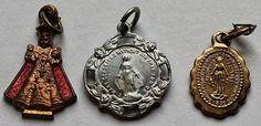 Lot of 3 Religious Vintage Pendants by onetime on Etsy, $3.00
