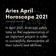 In April 2021, Aries can safely take on the implementation of an important project in order to successfully demonstrate all their talents and abilities. 〰️ Check @bjtofficial for more! ............................................ #aries2021 #ariesseason #arieszodiacsign #arieshoroscope #arieshoroscopes #arieszodiac #firesignzodiac #firesignaries #horoscope2021 April Horoscope, Aries Season, Fire Signs, Aries Zodiac, Check, Aries