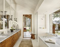 Modern bathroom in Spicewood Ranch by Mark Ashby Design