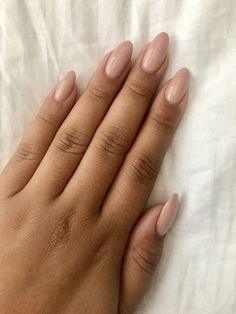 Nude almond nails Color - Tiramisu for two #ad #beautynails #acrylicnails