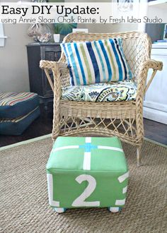 Easy DIY Update with Annie Sloan Chalk Paint Easy DIY footstool update with Annie Sloan Chalk Paint® by Fresh Idea Studio