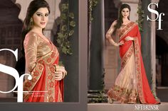#Georgette #Jacquard #And #Net #Saree #For #The #Sensational #Women #Out #There $93.09 www.fashionumang.com